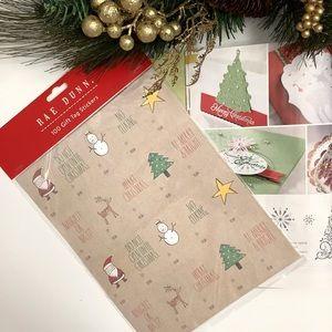 New Rae Dunn 100 Christmas Gift Tag Stickers